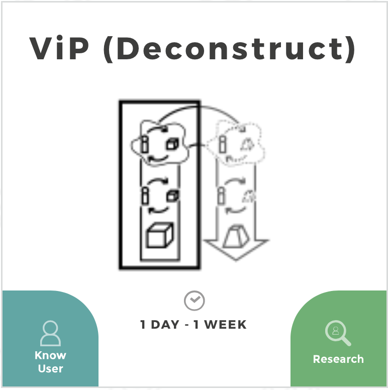 VIP deconstruction Design Method