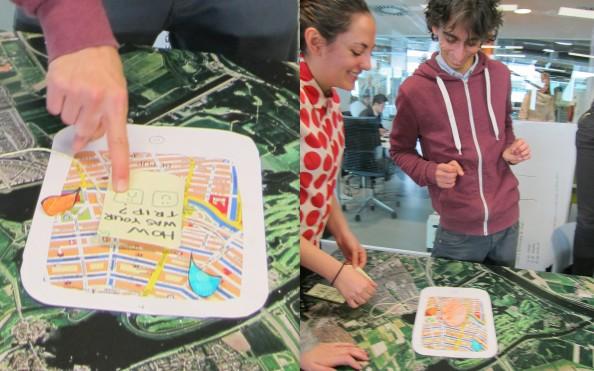 Bike's route map by Amsterdam Hackable Metropoli