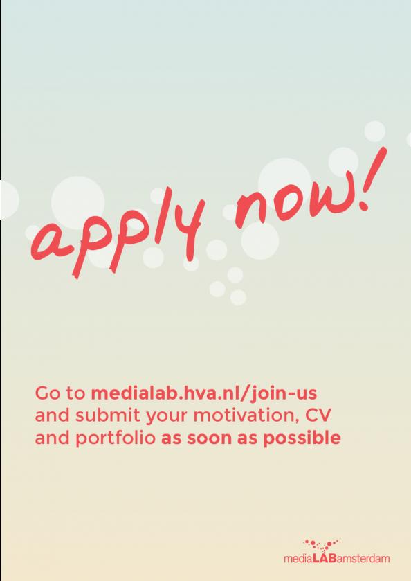 medialab amsterdam apply